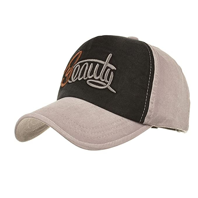 b5e8fa781bcf68 GreatestPAK Caps Unisex Männer Frauen Denim Baseball Cap Buchstaben Hut  Snapback Hip Hop Flachen Hut (