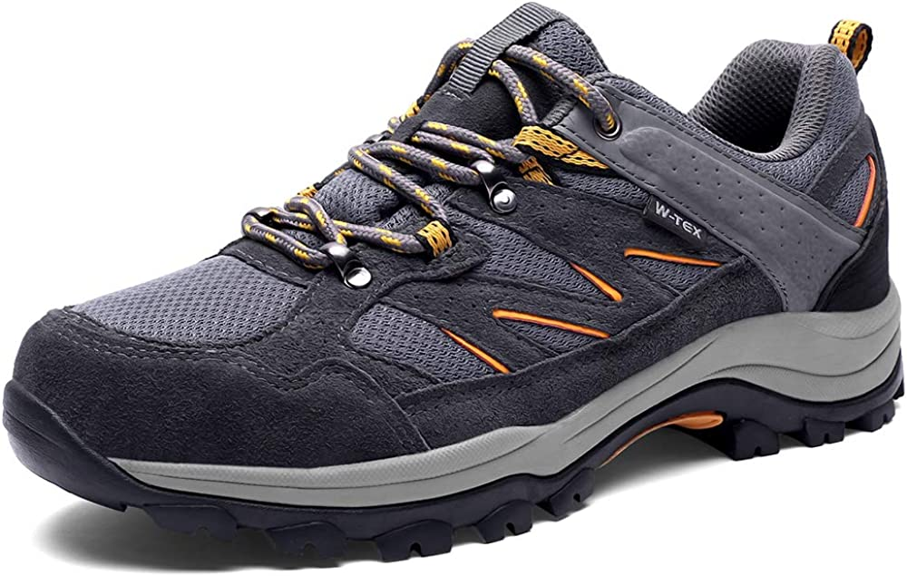 SILENTCARE Hiking Shoes Men Waterproof Non-Slip Lightweight Walking Shoes Breathable Low Top