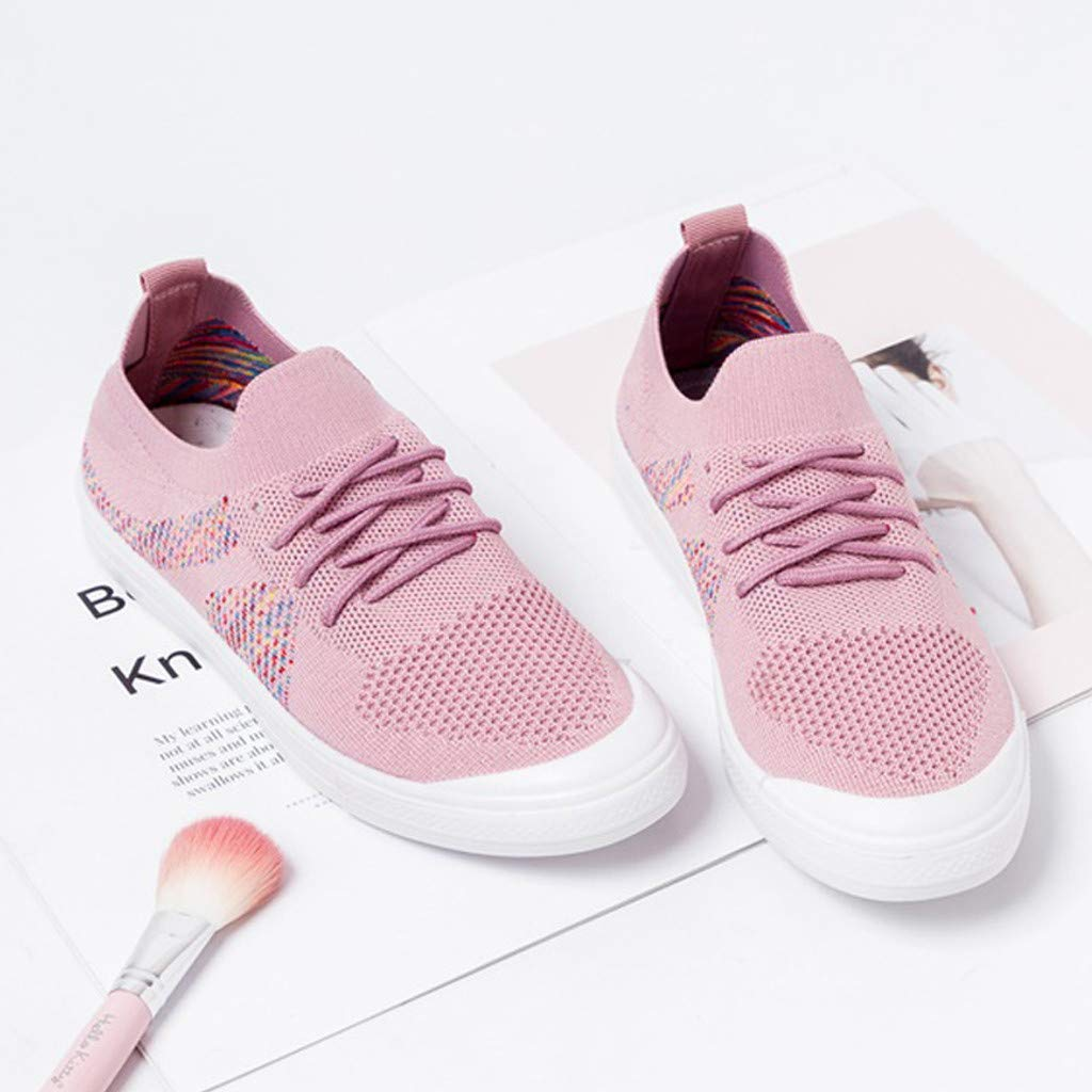 Moonker Womens Running Tennis Shoes Ladies Girls Fashion Lightweight Breathable Lace-Up Walking Gym Jogging Sneakers