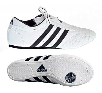 ADIDAS SM II SHOES - white w/black stripes - 2.5