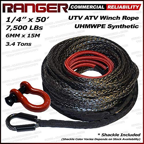 - RANGER ULTRANGER SY45 Black 7500LBs 1/4