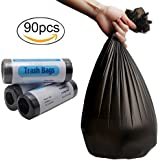 Small Trash Bags 4 Gallon Garbage Bags Waste Basket Bags Trash Wastebasket Bags Trash Can Liners Thin Material 15-Liters for Office, Bathroom, Kitchen