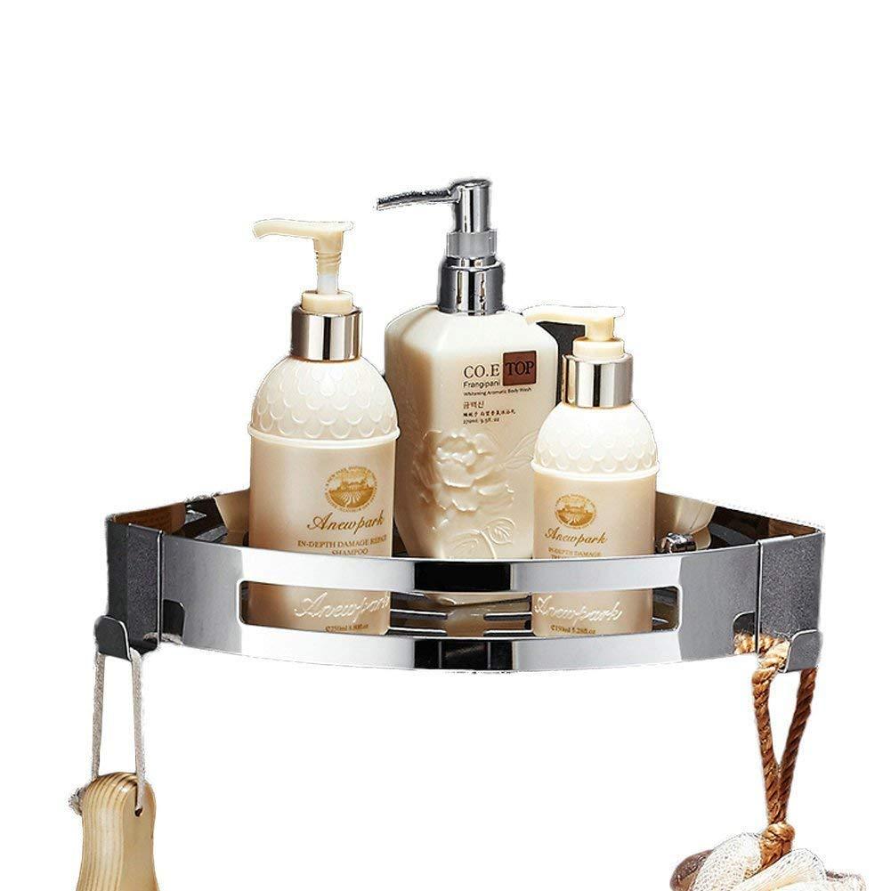 Bagno doccia bagno triangolo angolo mensola organizer portaoggetti nessun danno installazione, multifunzionale Combo cesta per accessori per bagno e cucina, in acciaio INOX XINYU TRADE