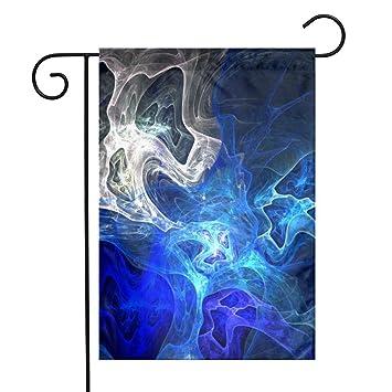 Amazoncom Olgczm Blue Fire Skull Wallpaper Home Flag