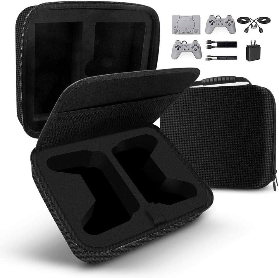 Sunix Bolsa para Playstation Classic Funda Dura de Transporte para la Consola de Sony Mini, Dos Controles y Otros Accesorios, Viajes, hogar, Oficina (Negro)