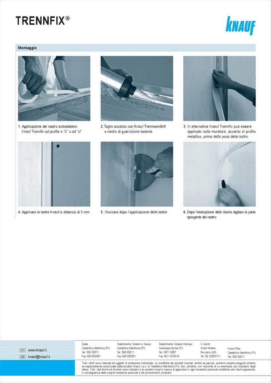 KNAUF rollo adhesivo trenn-fix 65mm x 50m: Amazon.es: Hogar