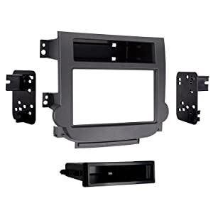 Metra 99-3314G Double DIN Dash Kit for Select 2013 and Chevy Malibu Vehicles (Gray)
