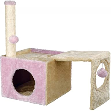 Amazon.com: Trixie IVA Cat Scratching Post (22 inch) (Beige/Pink): Clothing