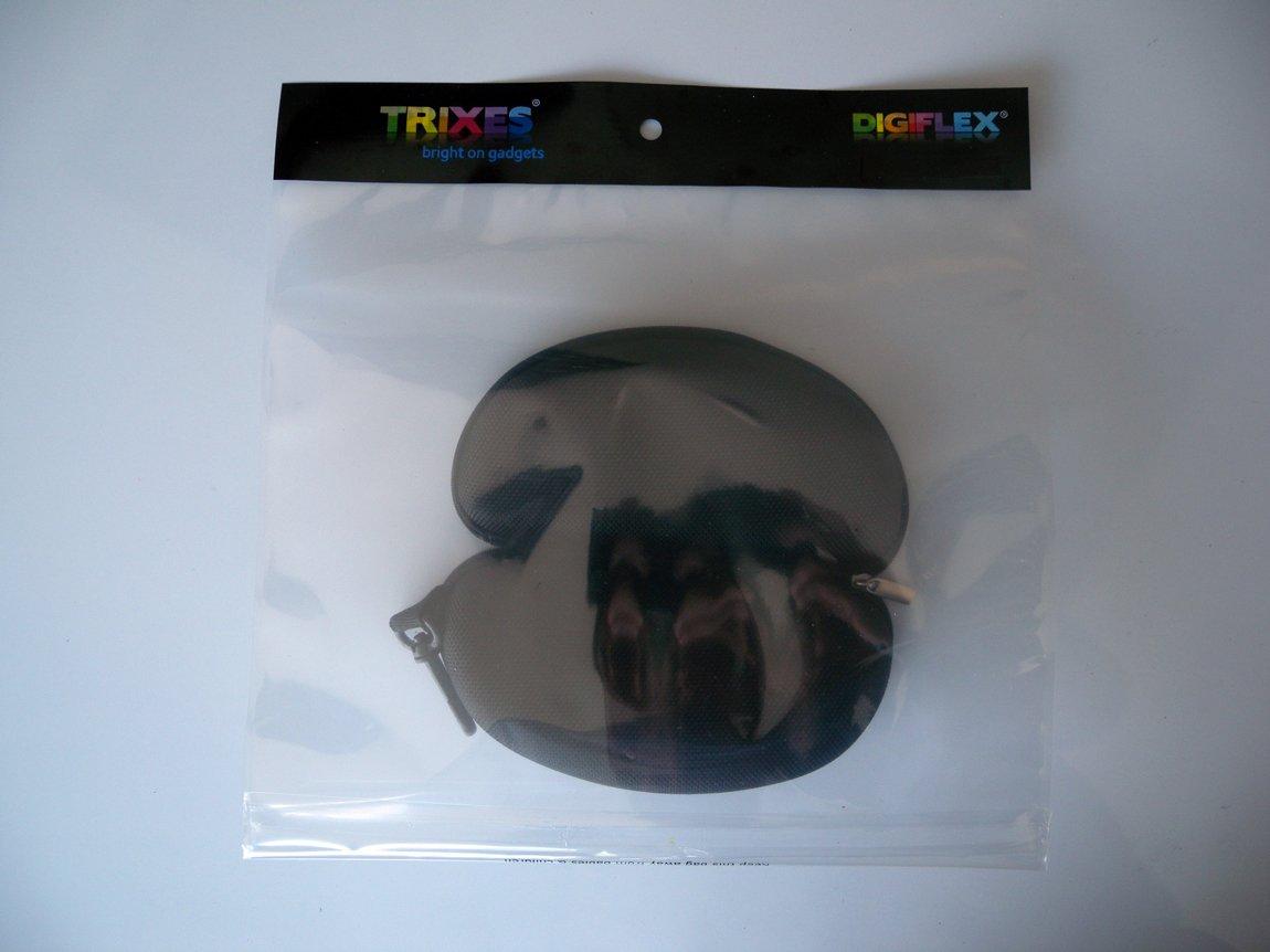 Schwarz Trixes Box Brillenetui elegant Hartschale mit Rei/ßverschluss