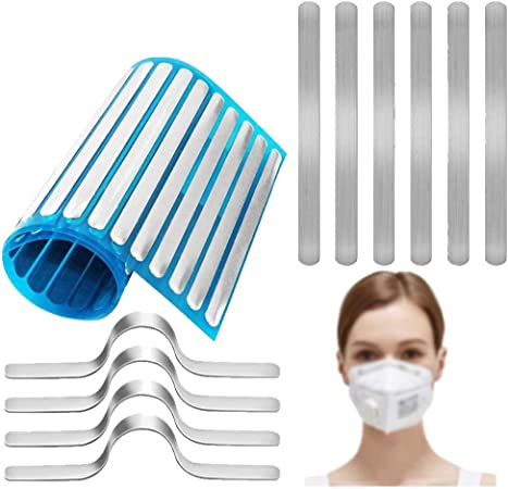 Mask Homemade DIY Making Accessories Aluminum Strips Nose Wire,Wire Nose Bridge for Mask,90MM Metal Flat Nose Clips Nose Bridge Bracket DIY Wire for Sewing Crafts 100PCS