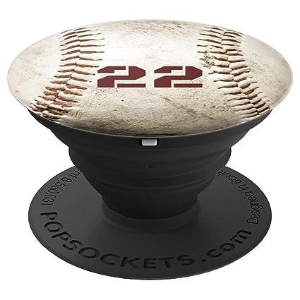 7cdbc31c7c74 Amazon.com  Baseball Pop Socket Player Number 22 - Gifts Boys Kids ...