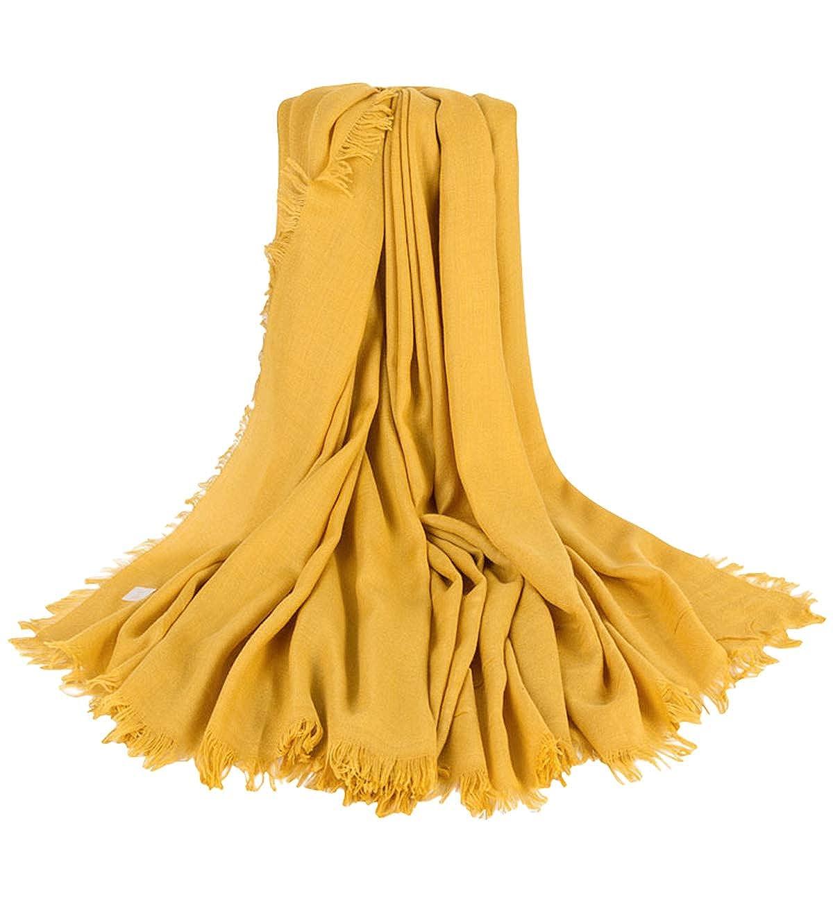 Alleza Damen Halstuch Schultertuch Schal Scarf Stola Quadratischer Deckenschal mit Fransen 140 140cm