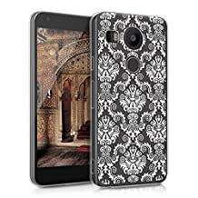 kwmobile Crystal Case Cover for LG Google Nexus 5X IMD design and TPU silicone frame with synthetic back - transparent soft Design Baroque