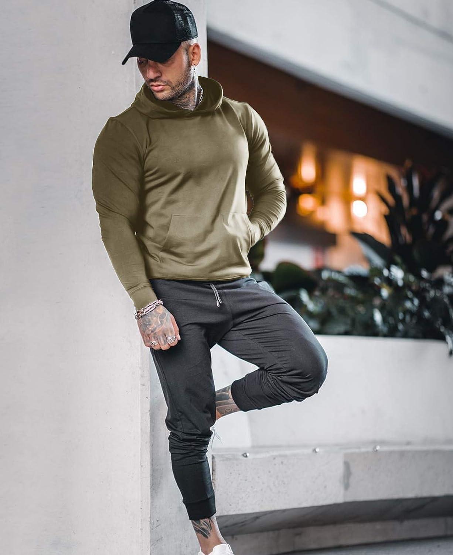 Men Sweatshirts & Hoodies URRU Men Active Gym Muscle Hoodie ...
