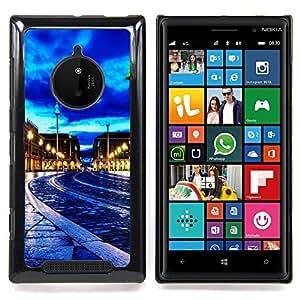 Blue Sky City Night Caja protectora de pl??stico duro Dise?¡Àado King Case For Nokia Lumia 830