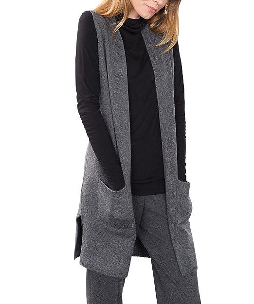 ESPRIT 116EE1I009, chaqueta punto Mujer, Gris (Anthracite 5), 34 (Talla del fabricante: X-Small): Amazon.es: Ropa y accesorios