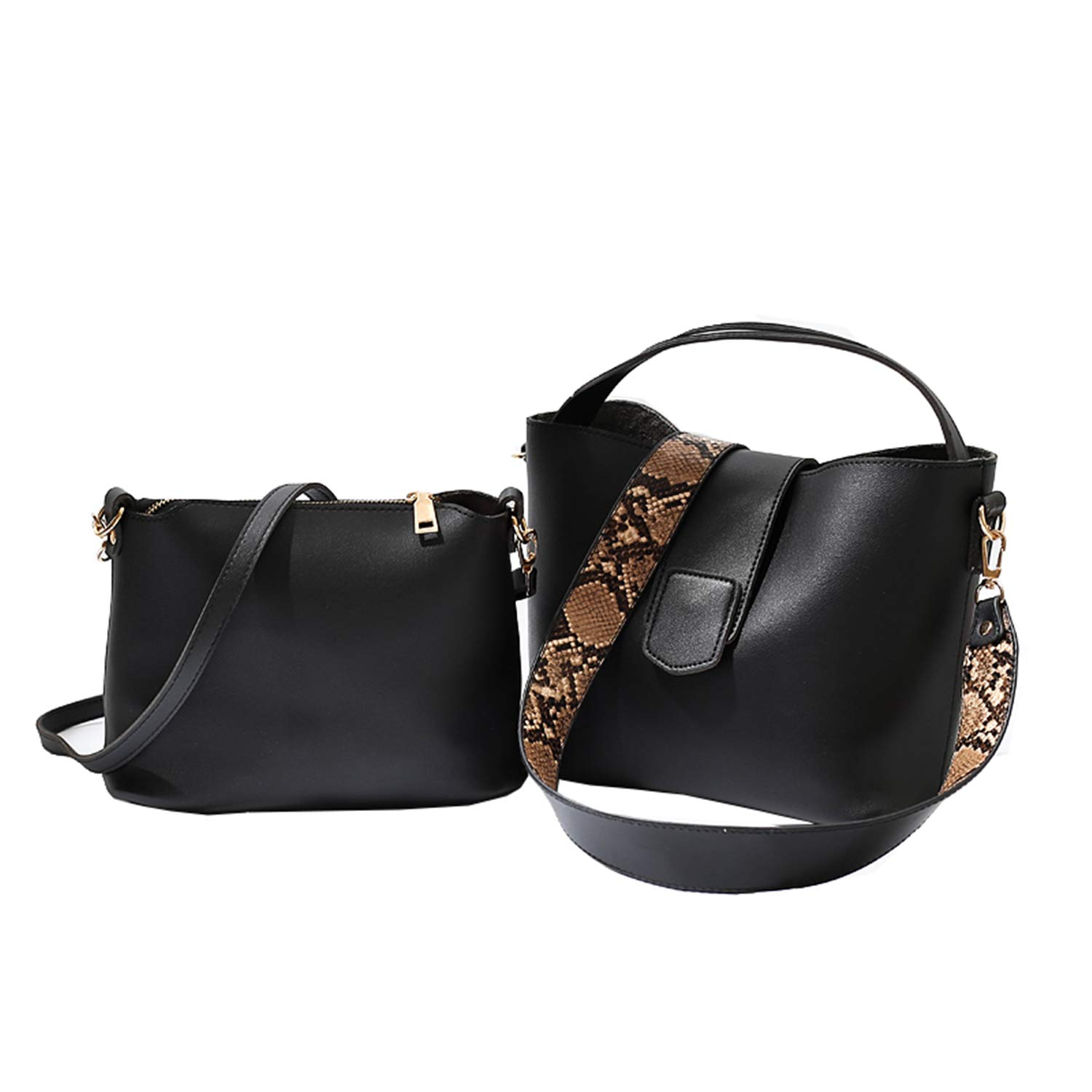 Taoutim Womens Crossbody Bag A Set Of Two Purse Retro Shoulder Bag  Snake-Print Strap  Handbags  Amazon.com 2330f1da287cf