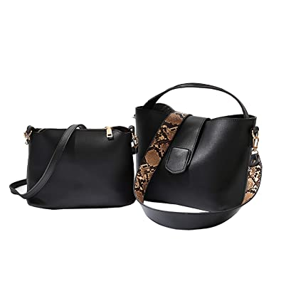 Image Unavailable. Image not available for. Color  Taoutim Womens Crossbody  Bag A Set Of Two Purse Retro Shoulder Bag Snake-Print Strap 1fbd882e7a246