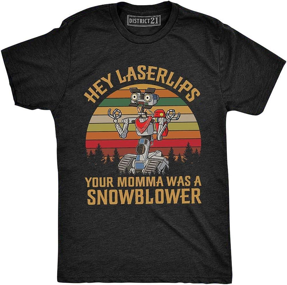 WilmaJMc Mens Short Circuit Johnny Five Input Cool T-Shirt