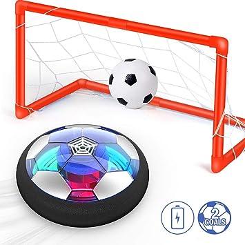 Ucradle Juguete Balón de Fútbol Flotante, Air Football on Luces ...