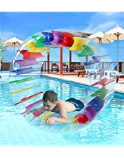 Greenco CNP2165 Kids Colorful Inflatable Water Wheel Roller Float 52