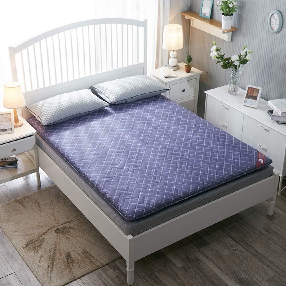 厚め ベッドパッド, 折りたたみ 和風 床 布団 マットマット 学生 寮 ダブル 1 マットレスをロールアップします。-b B07S7CV9XH