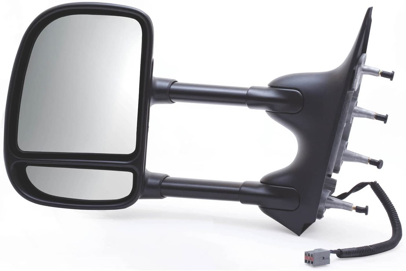 Fit System 61203F Ford Econoline Passenger Side OE Style Power Extendable Replacement Towing Mirror