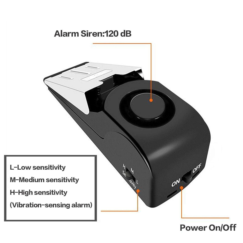 Amazon.com: ZZRUI Upgraded Door Stopper Security Alarm ...