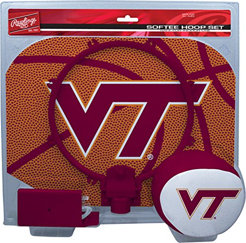 NCAA Virginia Tech Hokies Kids Slam Dunk Hoop Set, Maroon, Small ()