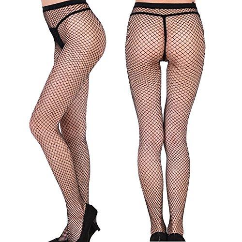 bb148561b9e10 Senchanting Women Hot Chic Vintage Black Big Cross Fishnet Tights Seamless  Nylon Large Mesh Stockings Pantyhose(Medium+Small Plaid)