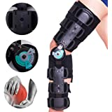 XMJESS Hinged ROM Knee Brace with Strap, Adjustable Post Op Patella Brace Support, Knee Immobilizer Stabilizer for ACL…