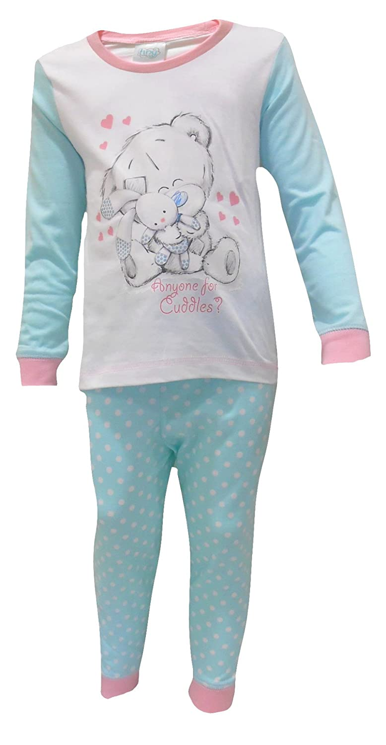 Baby Girls Pyjamas Kids Toddlers Me To You Pjs Cute Tatty Teddy Set Babies Size UK 6 to 24 Months LB6220