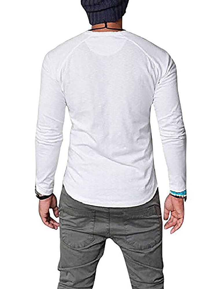 a978e12dc5f Seraih Men s Long Sleeve Henley Tee Raglan Sleeve Shirts at Amazon Men s  Clothing store