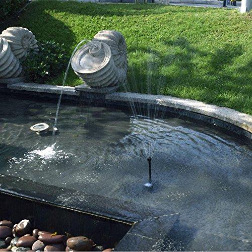Anself 17v 10w solar power water pump for garden pond for Garden pool pumps