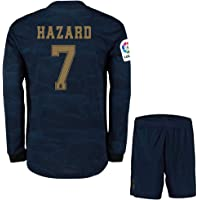 Eden Hazard ##7 2019-20 Real Madrid Full Sleeves Away Master Quality Jersey with Shorts/LA LIGA Patch/Club World Cup Logo