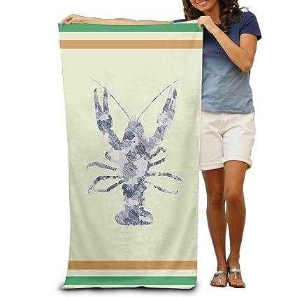 Vintage Retro camuflaje langosta adultos toalla de playa (80 x 130 cm