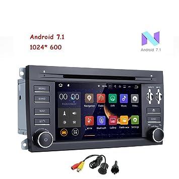 Freeauto para Porsche Cayenne 7 pulgadas 2 Din Android 7.1 Quad Core 1024 pantalla táctil HD