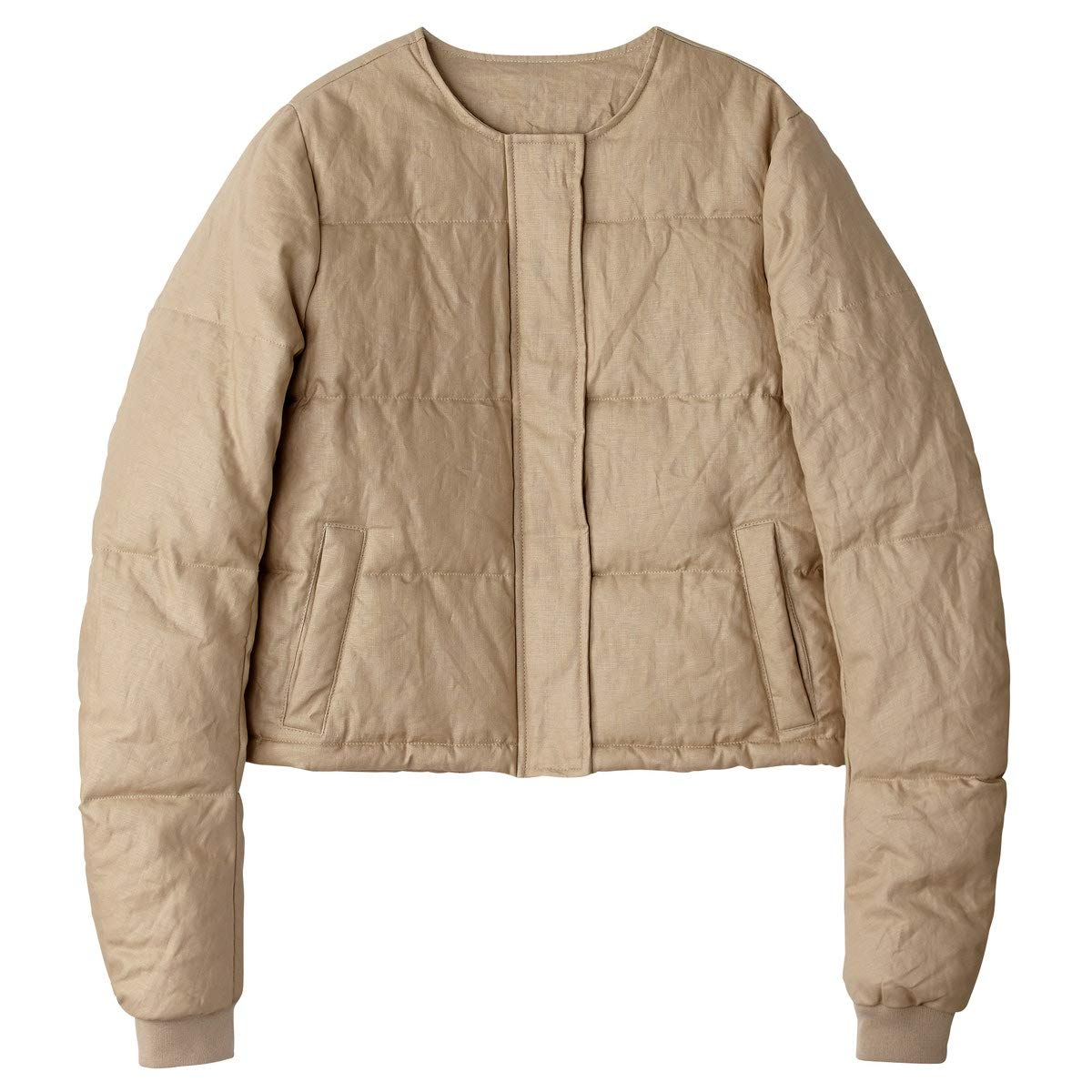 La Redoute Collections Womens Padded Linen Jacket