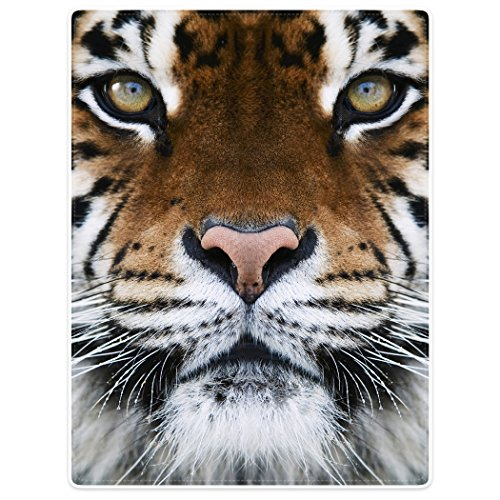 Blankets Fleece Blanket Throw for Sofa Bed Animal Print Tiger Face 60