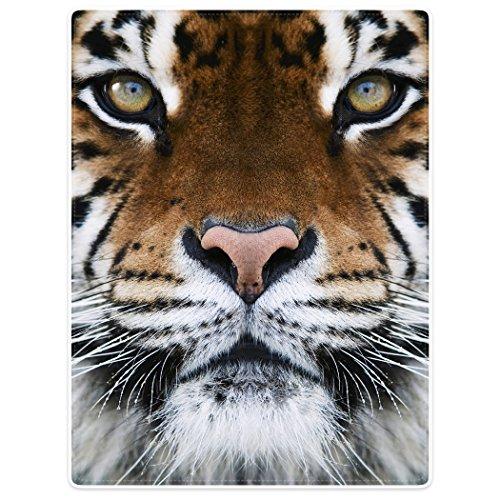 (Blankets Fleece Blanket Throw for Sofa Bed Animal Print Tiger Face 60