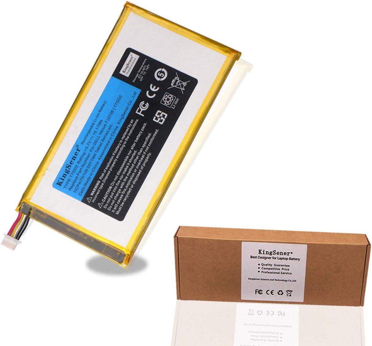 KingSener T7GD2 Tablet Battery for DELL Venue 7 3736 T7GD2 05YTM4 Tablet Batteries 3.7V 15.17WH