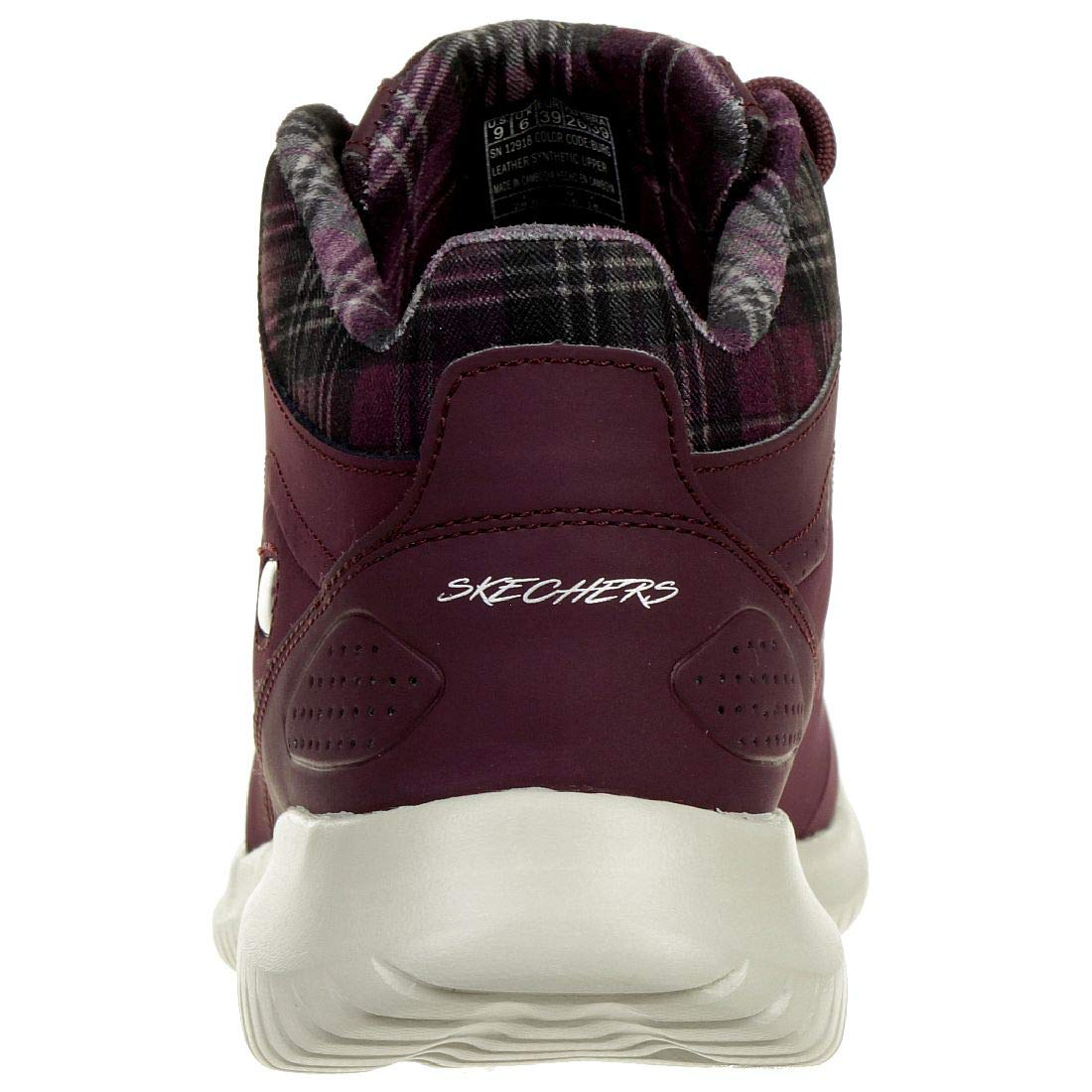 Skechers Damen On-The-go Joy-Bundle Up-15501 Kurzschaft Stiefel, anthrazit Rot (Burgundy 12918-burg)