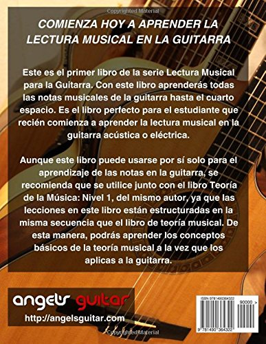 Lectura Musical para Guitarra: Nivel 1: Volume 1: Amazon.es: Angel Candelaria: Libros