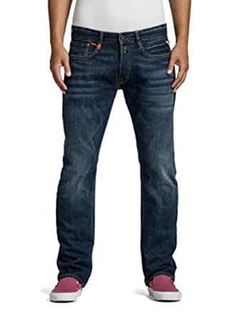 Replay Herren Jeans Newbill MA955-606-300 Regular Fit Straight Leg deep blue ,