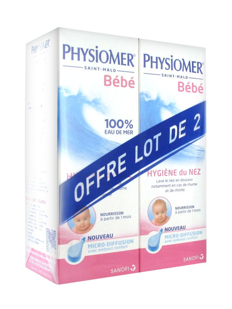 Physiomer Nourissons Lot de 2 x 115ml Sanofi SANOFI AVENTIS 7608070