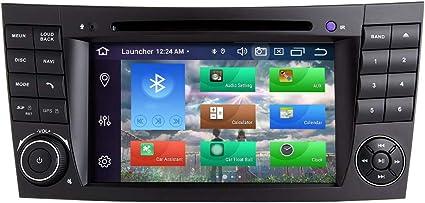 Booyes Für Mercedes Benz E Klasse W211 W219 Cls Android 10 0 Octa Core 4 Gb Ram 128 Gb Rom 7 Autoradio Stereo Gps System Auto Dvd Player Unterstützung Auto Auto Play Tpms Obd 4g Wifi Dab Navigation