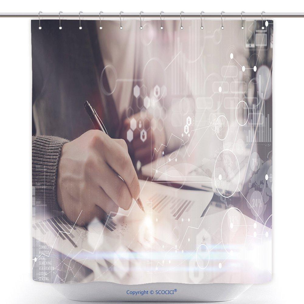 Amazoncom Vanfan Cool Shower Curtains Man Typing Keyboard Laptop