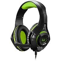 Headset Gamer Warrior Rama P3+USB Stereo Adaptador P2 LED Verde - PH299, Warrior, Microfones e fones de ouvido, Preto…