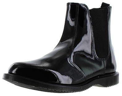e8408ca1675 Dr. Martens Women s Faun Black Patent Leather Chelsea Boot-Black-8 Size 8