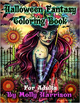 Halloween Fantasy Coloring Book For Adults Featuring 26 Halloween